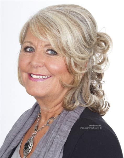 glamorous styles for medium grey hair loose perms for medium hair popular long hairstyle idea