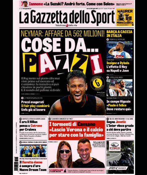 la gazzetta dello la gazzetta dello sport european paper gossip barcelona
