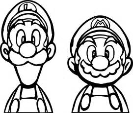 face printable mario and luigi coloring pages