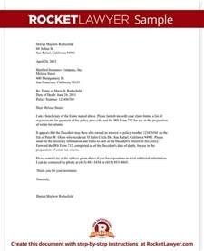 Insurance Claim Template Letter by Insurance Proceeds Letter Template With Sle