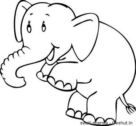 coloring page elephant head elephant head coloring page