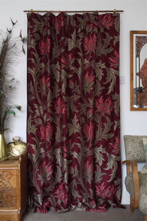 portiere curtains william morris planet velvet lined portiere door curtain
