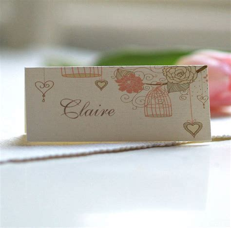wedding card name personalised birdcage place name cards by beautiful day
