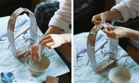 How To Make A Paper Mache Hat - paper mache dinosaur mask diy how to