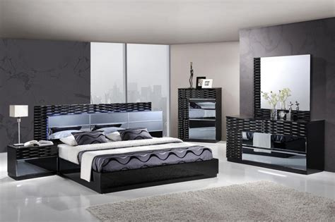 black king bedroom set ebay modern black glossy 5 piece unique king bedroom set w led