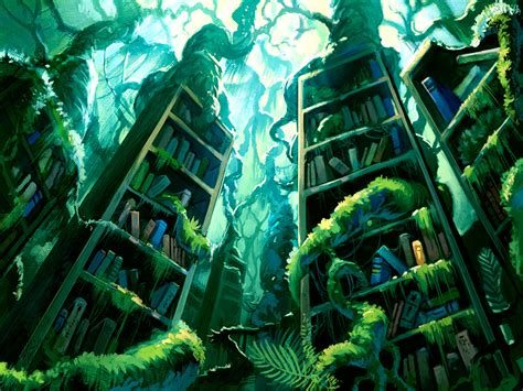 The Lost Library lost library by denewer on deviantart