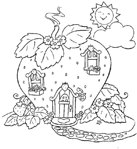 strawberry shortcake coloring pages coloringpagesabc com