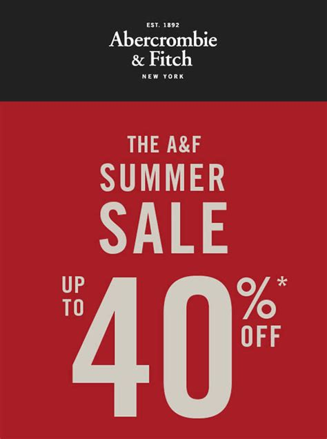 Abercrombie And Fitch Gift Card Balance - abercrombie fitch summer sale from 8 14 jun 2016