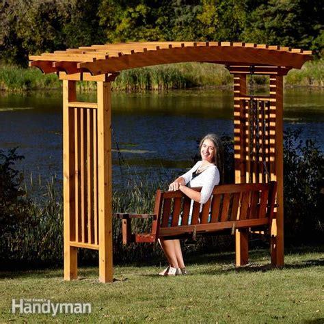 diy arbor swing how to build a garden arbor the family handyman