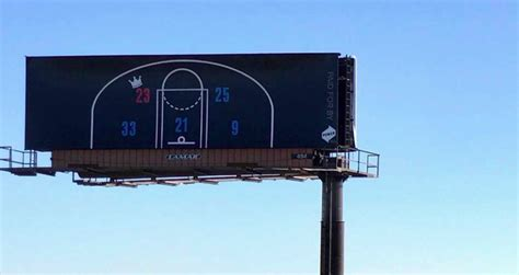three lebron to philly billboards installed in