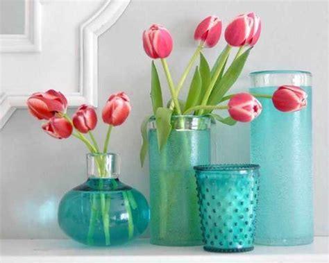 floreros y jarrones de vidrio decoracion de interiores como decorar un florero de