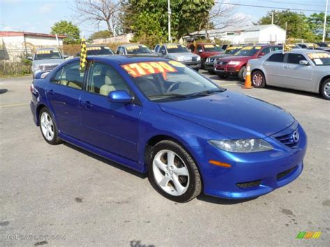 lapis blue metallic 2004 mazda mazda6 i sport sedan