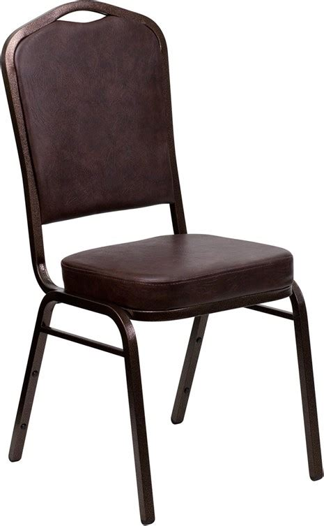 hercules stacking banquet chairs hercules series crown back stacking brown vinyl banquet