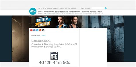 Hgtv Brothers Sweepstakes - hgtv com brothersweeps hgtv brother vs brother sweepstakes 2016