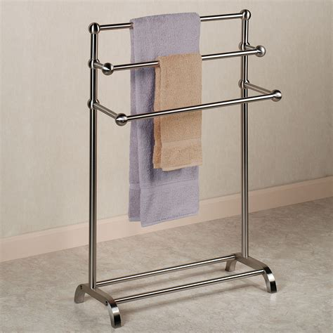 towel stands for bathrooms brushed nickel bathroom towel holder stand best home design 2018