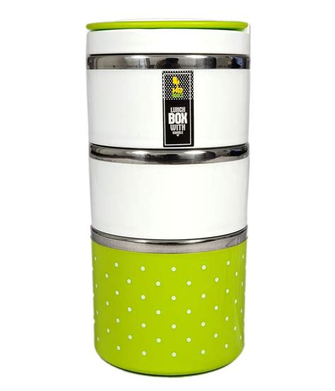 Stainless Lunchbox 1 Susunrantang Bekal homio green stainless steel lunch box buy at best price in india snapdeal