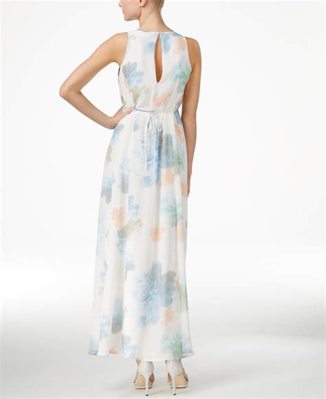 Calvin Maxy calvin klein floral print empire maxi dress in floral