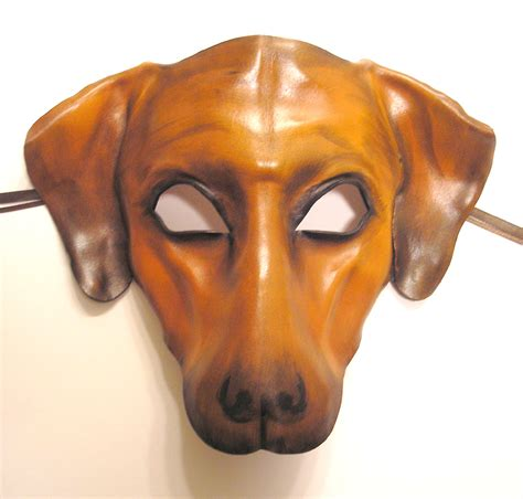 leather puppy mask leather mask ridgeback or by teonova on deviantart