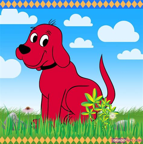 puppy clifford how to draw clifford the big step by step pbs characters draw