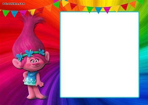 trolls template free printable trolls invitation template free