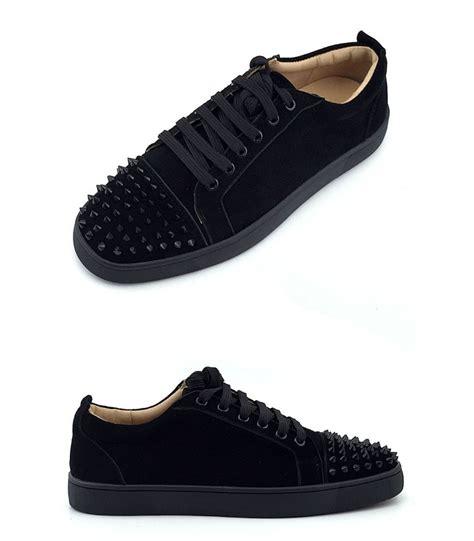 promo code christian louboutin sneakers zwart suede b43bb 595ff