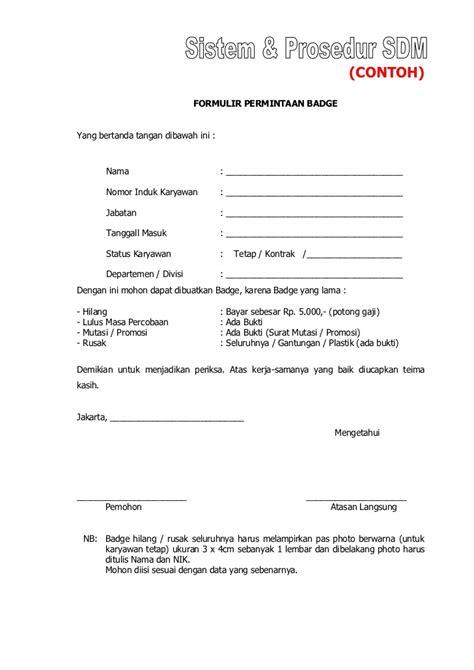 Format Memo Jabatan Contoh Sop Sdm Perusahaan Best Practise