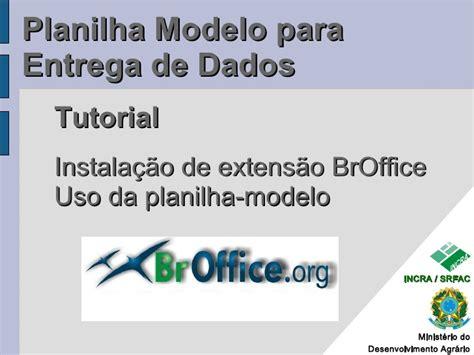 tutorial uso powerpoint tutorial 1 uso da planilha modelo para entrega de dados v2