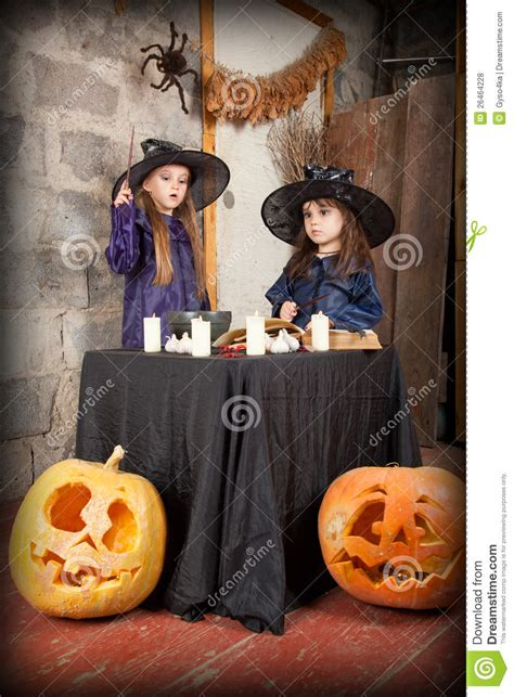 two little witches a 0763633097 two little witches royalty free stock photos image 26464228