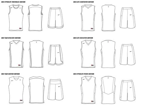 Nba Nike Uniform Concepts On Behance Basketball Jersey Template Photoshop