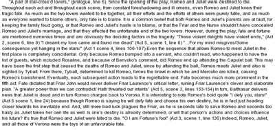 Romeo And Juliet Character Analysis Essay Prompt by Free Essay On Romeo And Juliet Essay On Fate