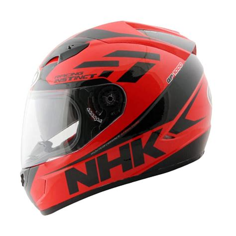 helm nhk gp 1000 racing instinc black visor