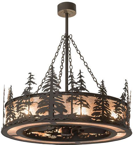 meyda ceiling fans meyda 175914 pines rustic rubbed bronze