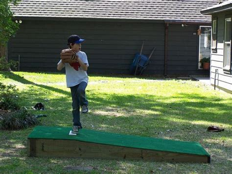 build a portable pitching mound summer 2013