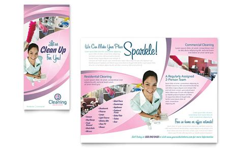 cleaning service brochure templates house cleaning services brochure template word