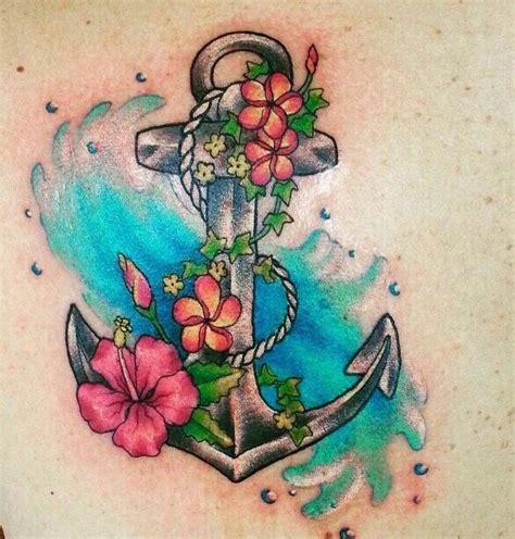 tatuaggi fiori tropicali ancora passione tatuaggi tatuajes de anclas
