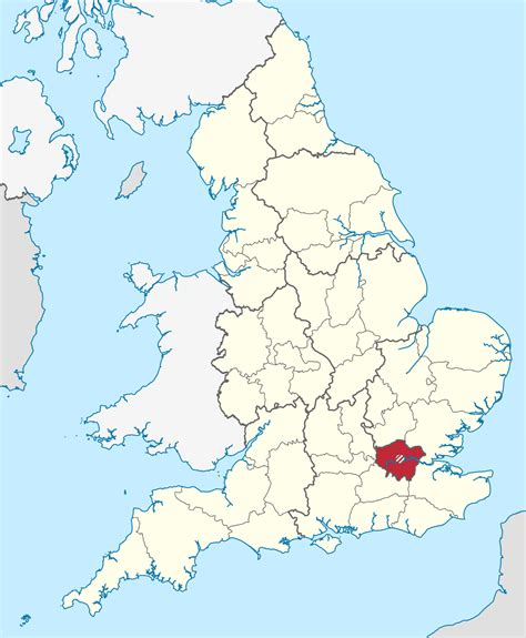 map of greater area uk greater