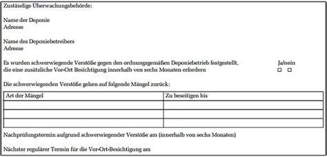 Musterbrief Beschwerde Behörde Umwelt 220 Berwachungsplan F 252 R Deponien Gem 228 223 Artikel 23 Abs 4 Der Richtlinie 2010 75 Eu