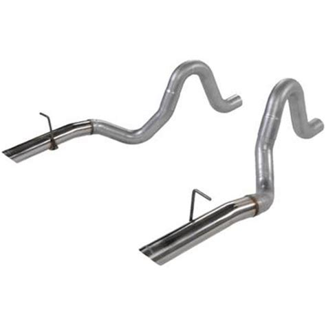 flowmaster mustang 3 quot tailpipes with stainless 3 quot tips 86
