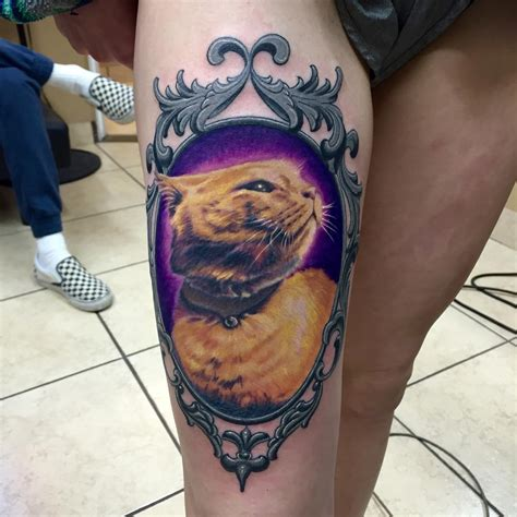 cat portrait tattoo black cat portrait tattoos www pixshark images