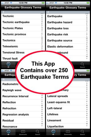 Earthquake Glossary | earthquake glossary terms app for ipad iphone weather