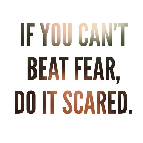 I Fear You if you can t beat fear do it scared quotes