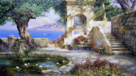 painting for pc free landscape painting wallpapers free computer desktop