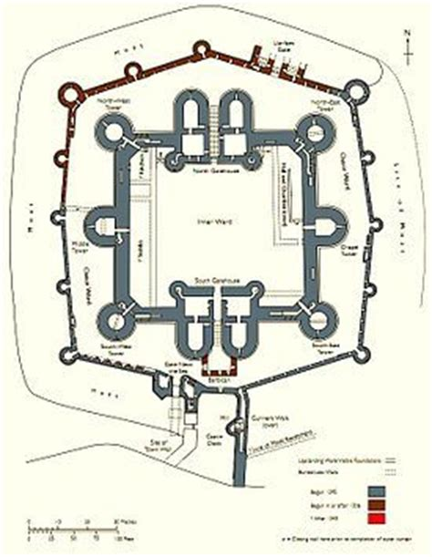 beaumaris castle floor plan beaumaris castle floor plan castles pinterest