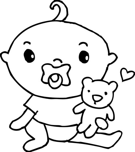 coloring pages baby boy free coloring pages cute baby boy coloring page free clip