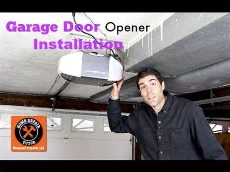 garage door opener installation by home repair tutor