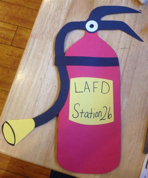 firefighter crafts for thank you firefighter s kindergarten and preschool arts