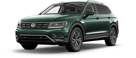 dark green volkswagen 2018 volkswagen tiguan suv color options