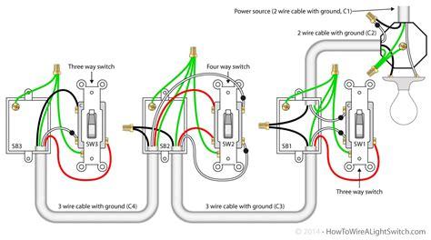 3 way switch wiring diagram lights diagram