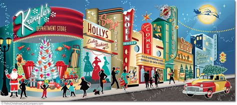 Home Decor Stores In Las Vegas Beautifully Illustrated Mid Century Modern Christmas Cards