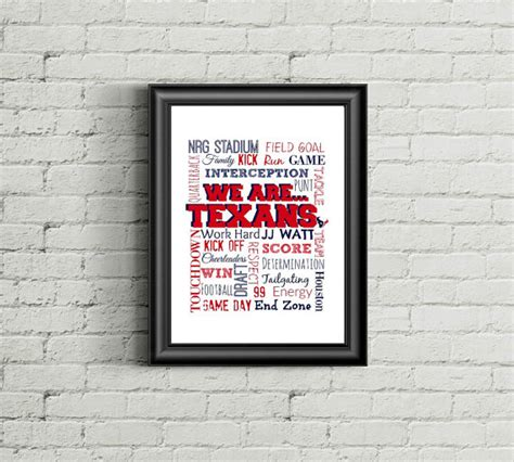 texans wall decor texans wall texans print houston texans by